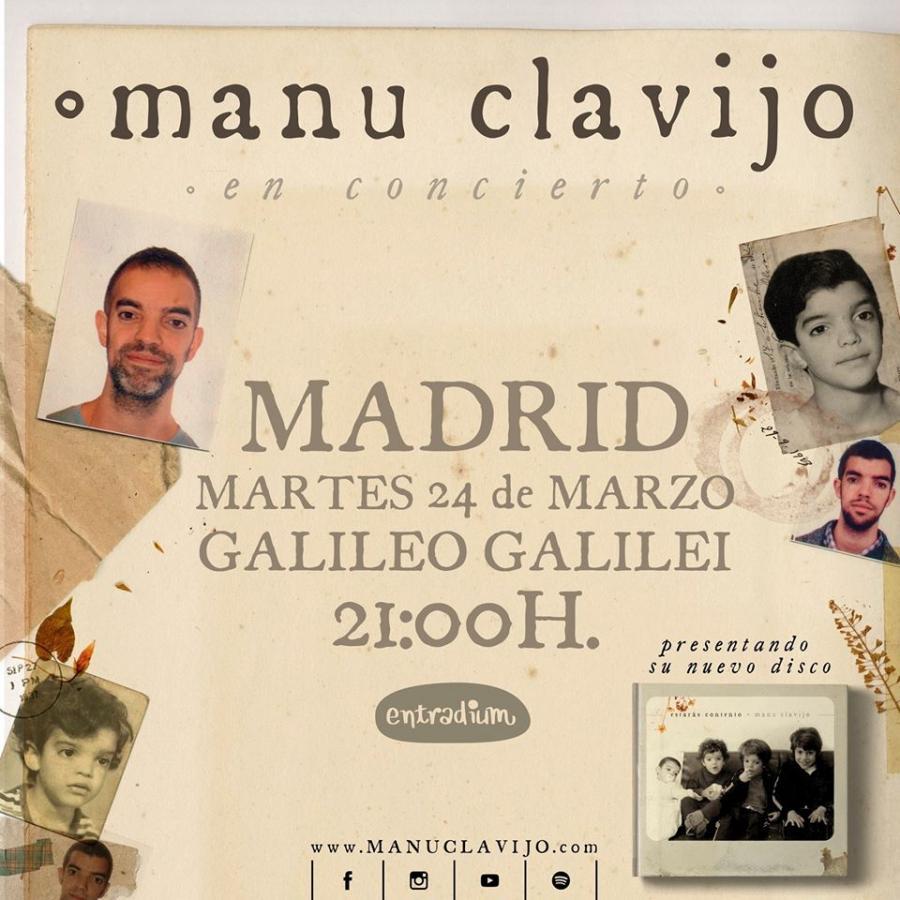 """Poster del concierto Manu Clavijo presenta """"Estarás contento"""" (CANCELADO)"""