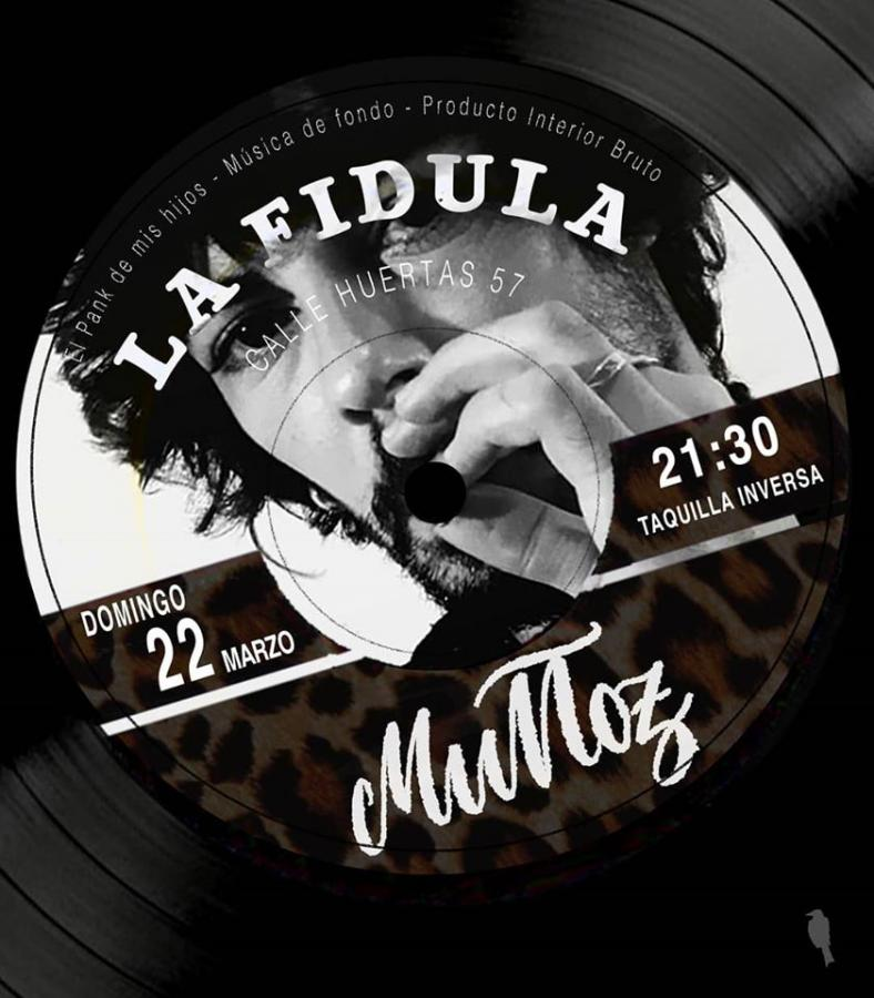 Poster del concierto Muñoz en La Fídula (CANCELADO)