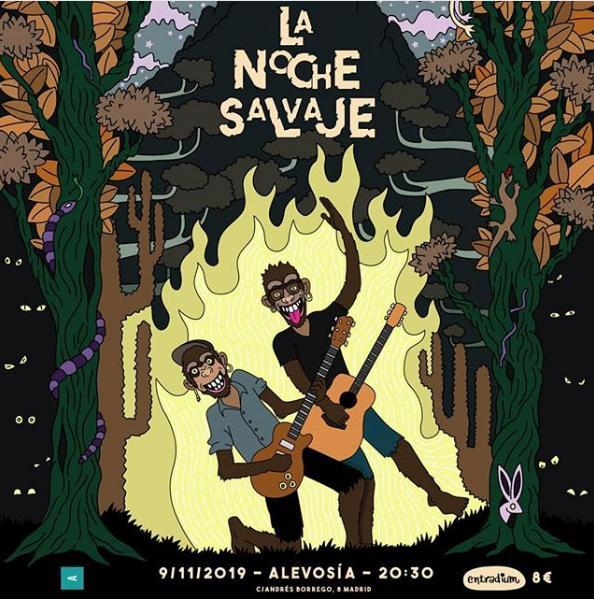 Poster del concierto La noche Salvaje con Kike_m_ y bandas