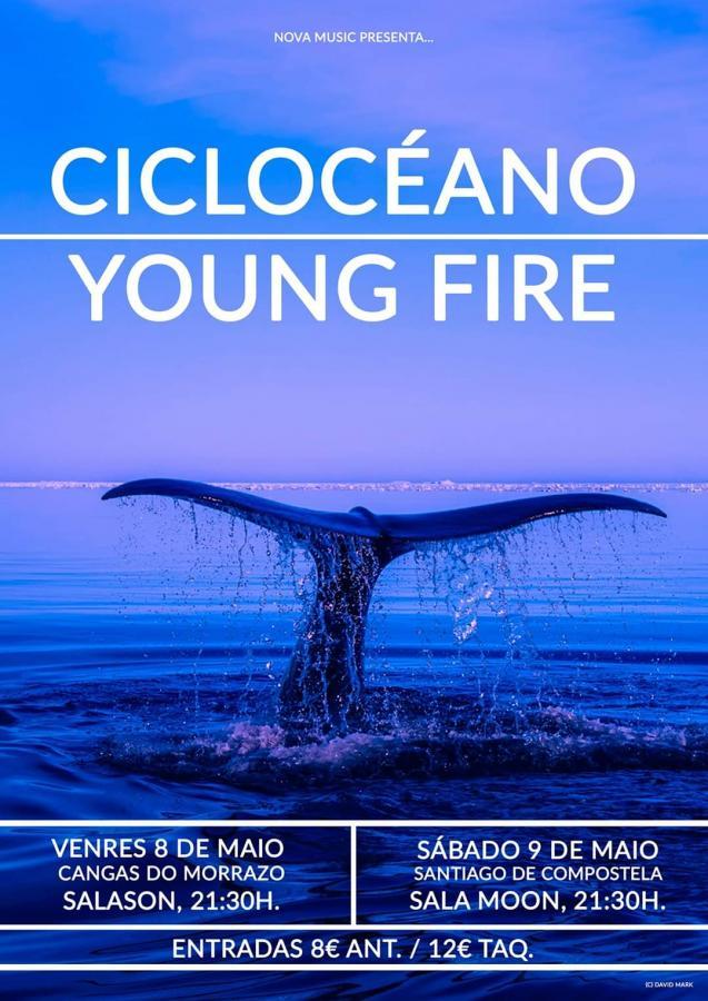 Poster del concierto Young Fire en Santiago de Compostela