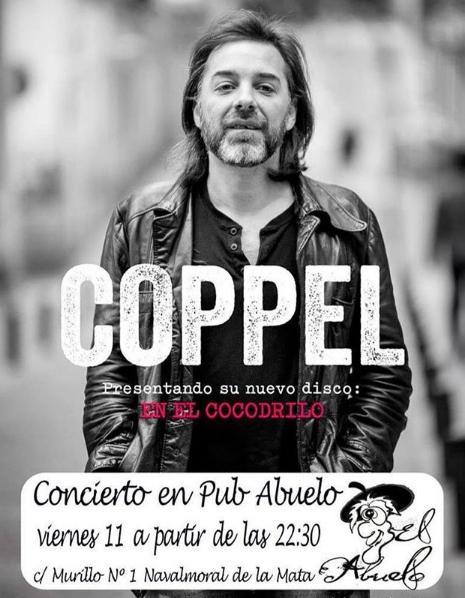 Poster del concierto Iñigo Coppel en Navalmoral de la Mata