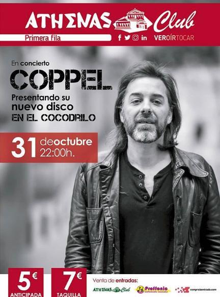 Poster del concierto Iñigo Coppel en Cartagena