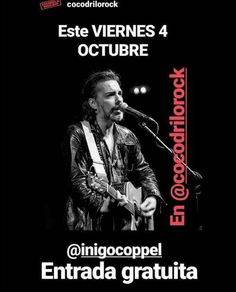 Poster del concierto Iñigo Coppel en Cocodrilo Rock Bar