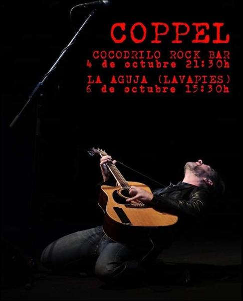 Poster del concierto Iñigo Coppel en taberna La Aguja