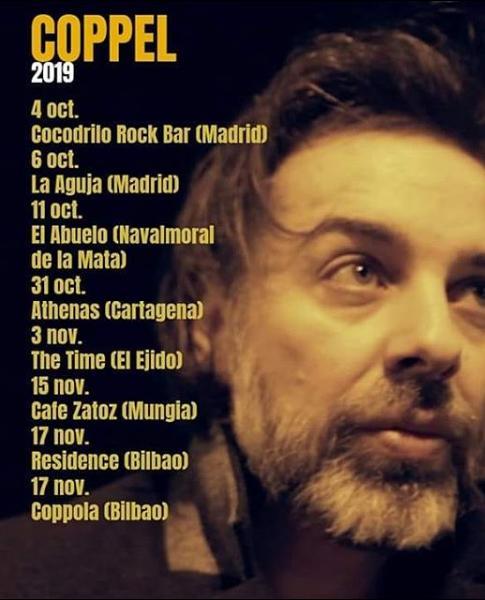 Poster del concierto Iñigo Coppel en en Coppola, Bilbao