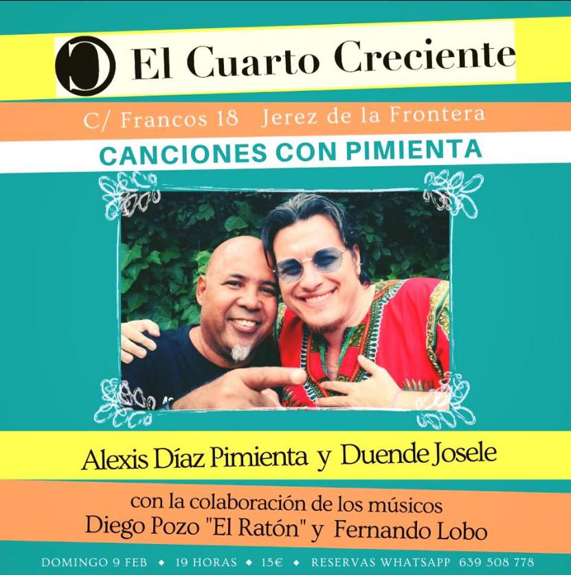 Poster del concierto Duende Josele con Alexis Díaz Pimienta
