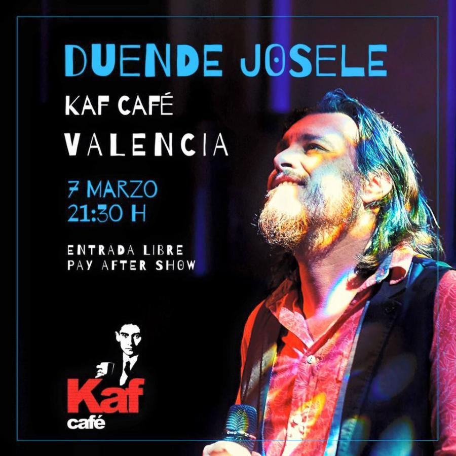 Poster del concierto Duende Josele en Valencia