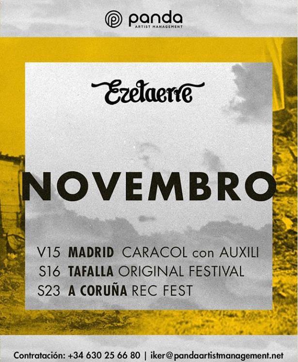 Poster del concierto Ezetaerre en concierto en el Rec Fest de A Coruña