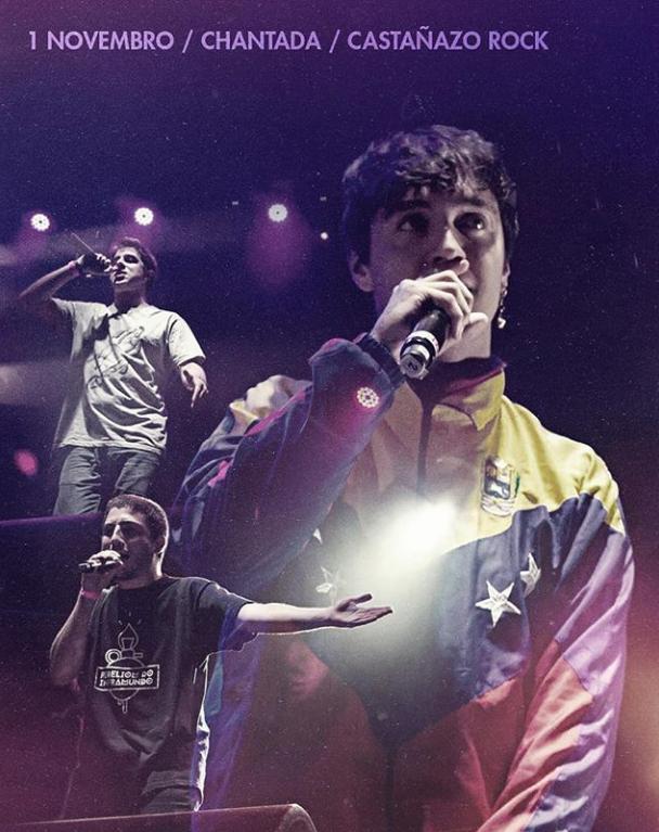Poster del concierto EZR en el Festival Castañazo Rock en Lugo