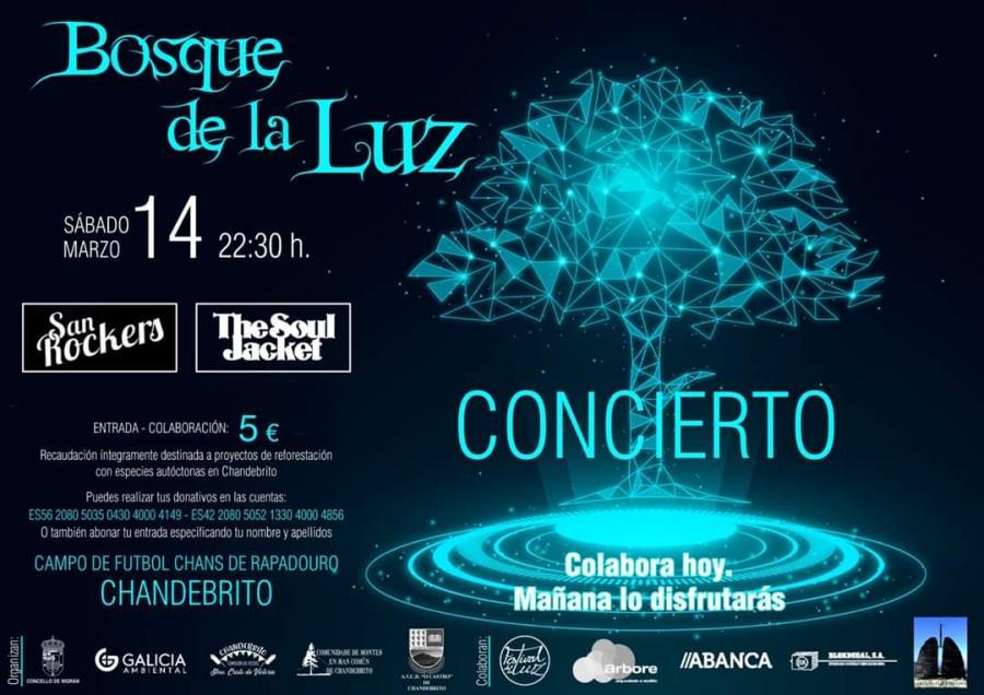 Poster del concierto The Soul Jacket en Bosque de la Luz (CANCELADO)