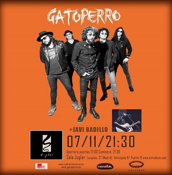 Poster del concierto Gatoperro en Sala Juglar