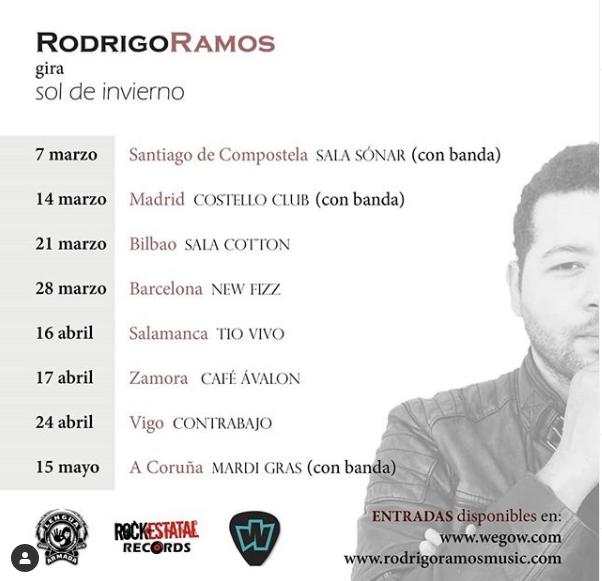 Poster del concierto Rodrigo Ramos en Barcelona (CANCELADO)