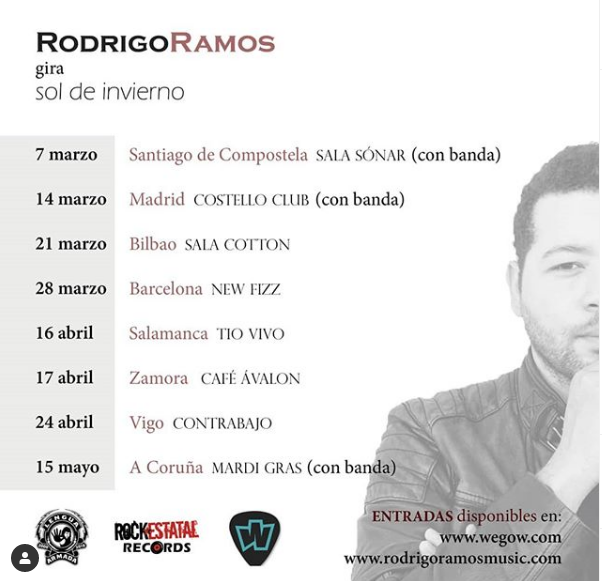 Poster del concierto Rodrigo Ramos en Zamora (CANCELADO)