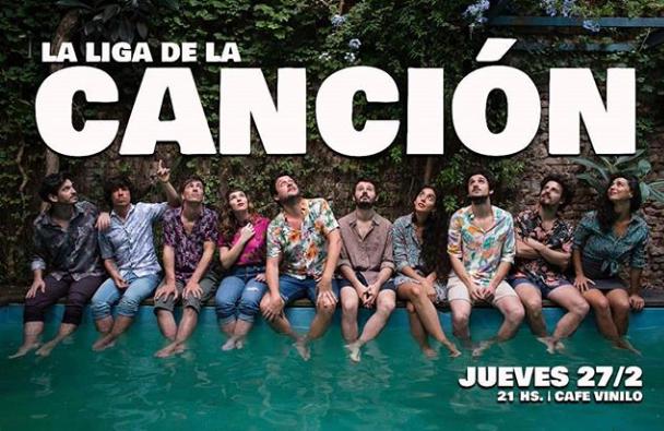 Poster del concierto Julián Oroz y Santiago Alonso en La Liga de la Canción
