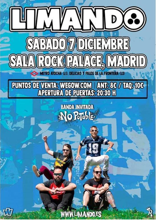 Poster del concierto Limando en Madrid