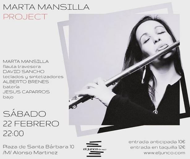 Poster del concierto Marta Mansilla Project