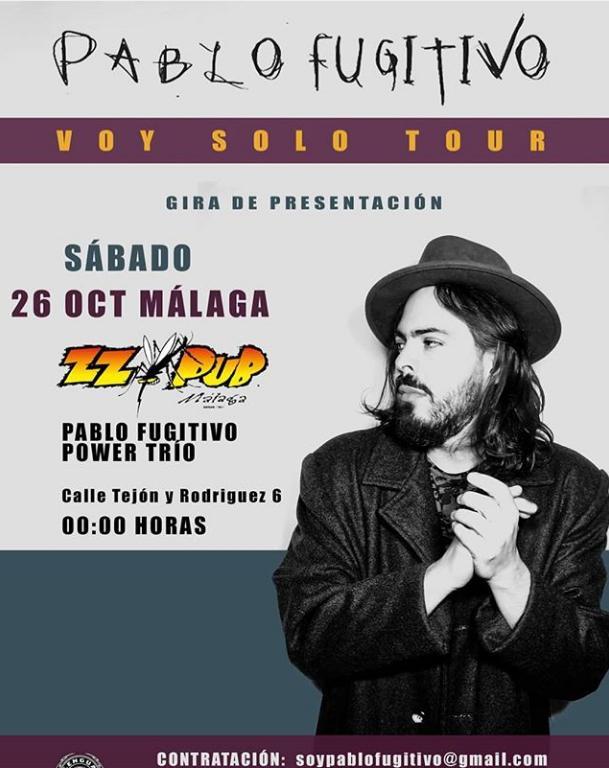Poster del concierto Pablo Fugitivo en zzpub