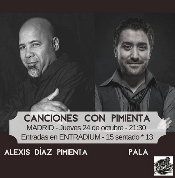 Poster del concierto Pala y Alexis Díaz Pimienta