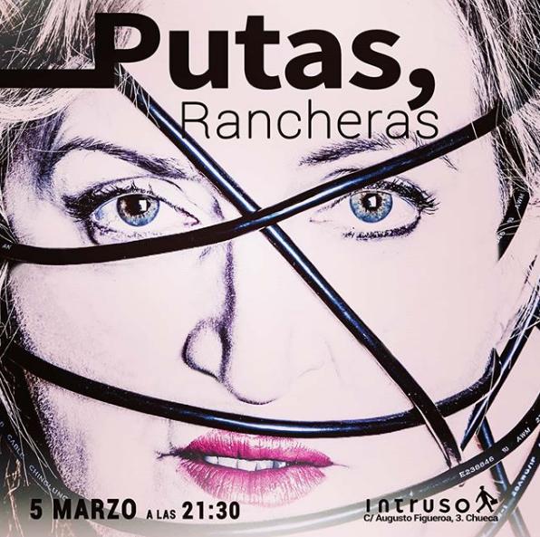 Poster del concierto Gloria Albalate en Putas Rancheras