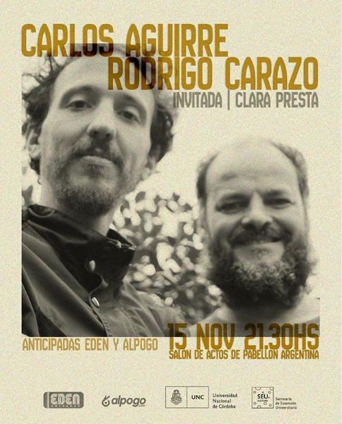 Poster del concierto Rodrigo Carazo + Carlos Aguirre