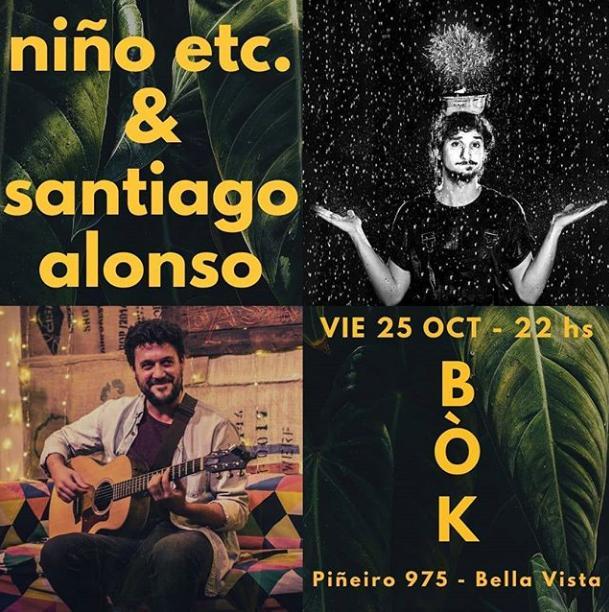 Poster del concierto Santi Alonso + Niño etc.