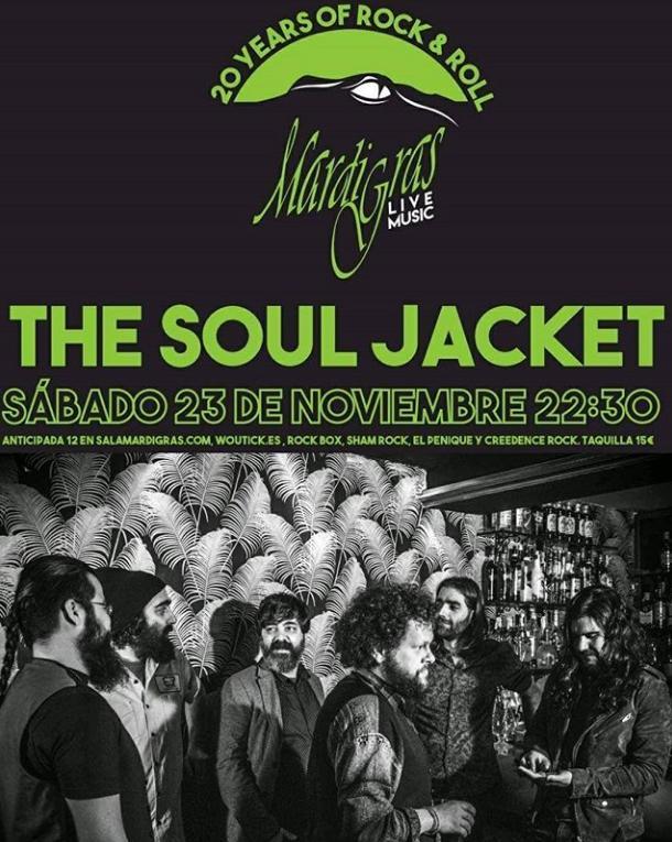 Poster del concierto The Soul Jacket en Coruña