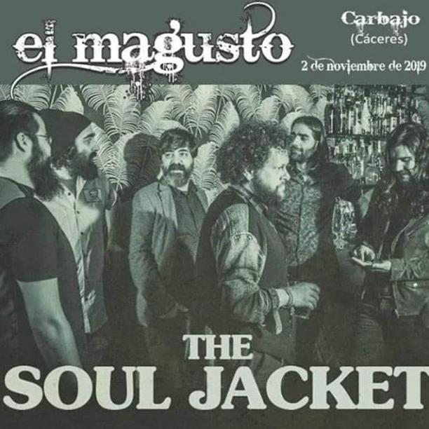 Poster del concierto Soul Jacket en el Festival Magusto, Carbajo, Cáceres