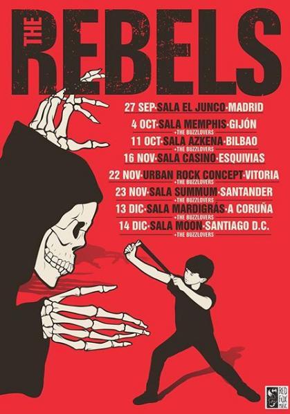 Poster del concierto The Rebels + The Buzzlovers en Santiago