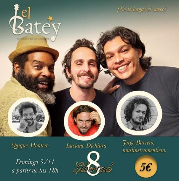 Poster del concierto Jorge Zurita en el Batey Madrid