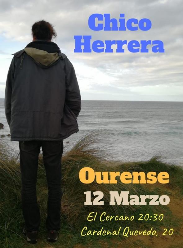 Poster del concierto Chico Herrera en El Cercano (CANCELADO)
