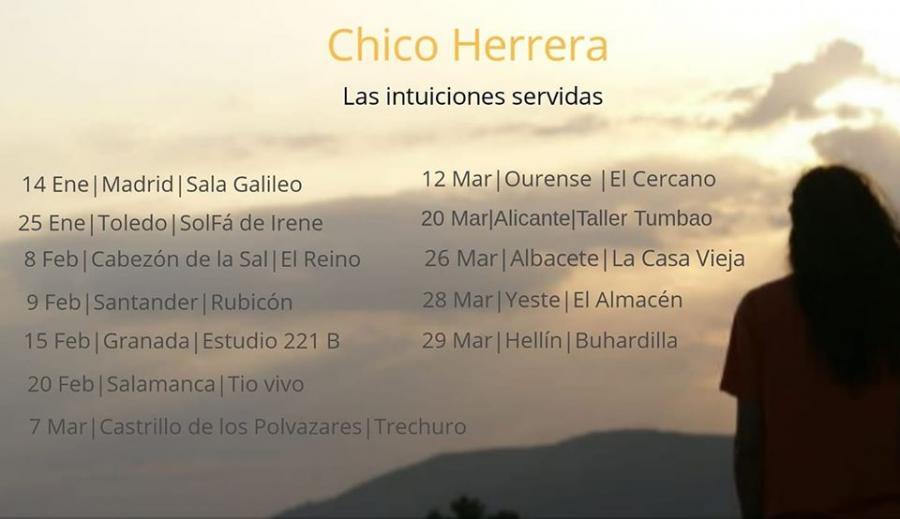 Poster del concierto Chico Herrera en Estudio 221 B