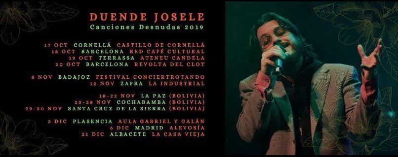 Poster del concierto Duende Josele en Librería La Industrial