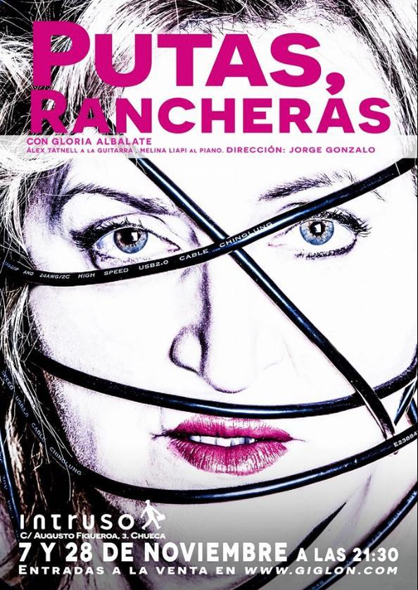 Poster del concierto Putas Rancheras en El Intruso