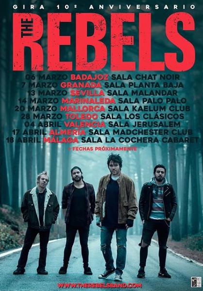 Poster del concierto The Rebels en Málaga